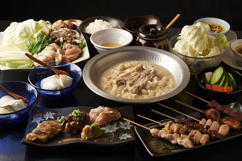 関内にある鶏料理専門の居酒屋「とりいちず」のメニュー