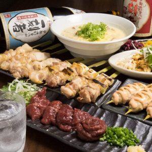 関内の居酒屋「とりいちず」で馬刺しと焼鳥を満喫する宴会