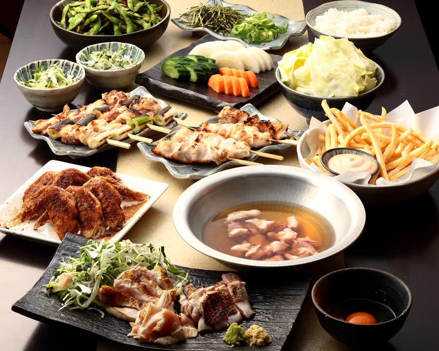 とりいちず食堂 関内店の鶏料理を満喫できる〈食べ放題×飲み放題コース〉